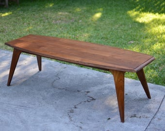 Mid Century Danish Modern Walnut Coffee Table
