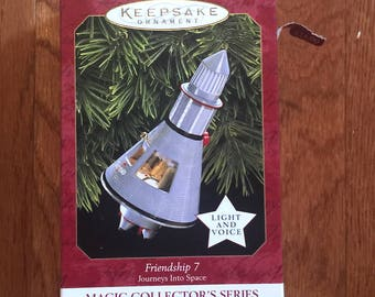Hallmark Friendship 7 Christmas Ornament 1997 John Glenn's Voice