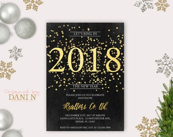 new years eve party invitation chalkboard holiday party invite holidays party gold