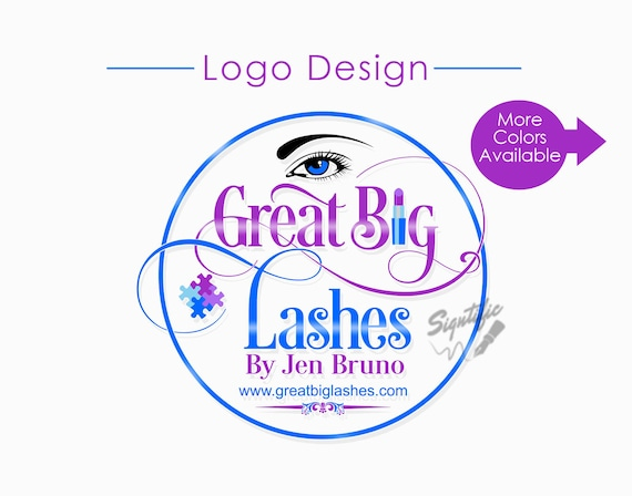 Custom Logo Design, Eyelash Salon Logo, Makeup Logo, Makeup Artistry Logo, Round Logo Design, Lashes Logo, Beauty Salon Logo, Circular Logo