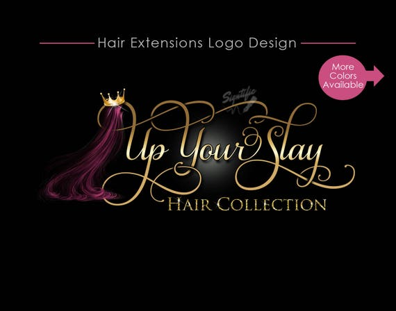 Hair Business Logo, Hair Logo Design, Hair Collection Logo, Hair Extensions Logo, Hair Crown Bling Logo, Hair Strands Logo, Wigs Logo Design
