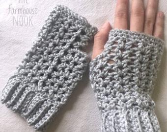 Crochet Wrist warmers, Fingerless Gloves, Crochet Arm warmers, Fingerless Mittens, Texting gloves,