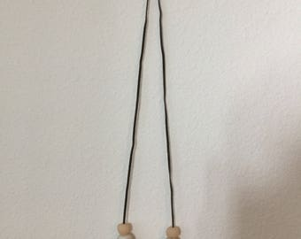 Clay+bar polymer necklace