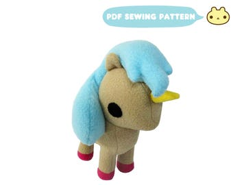 Plush Toy Pattern, Unicorn Pattern, Pony Sewing Pattern, Toy Horse, Plush Horse, PDF Horse, Unicorn Plush Toy, Toy Sewing Pattern