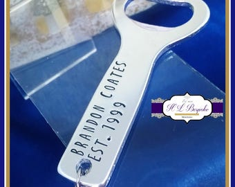 Personalised 18th Birthday Gift - Personalised Bottle Opener - You Choose Wording - I Can Now Drink - Turning 18 Gifts - Male Birthday Gifts