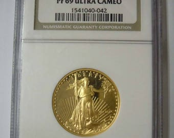 1991-P American Gold Eagle G 25 Dollar NGC Certified PF 69 Ultra Cameo