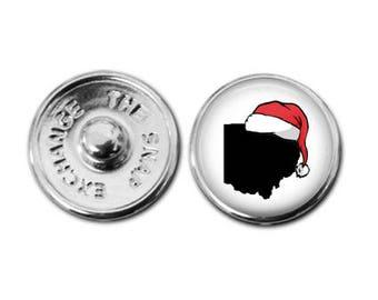 Ohio Santa Snap Charm