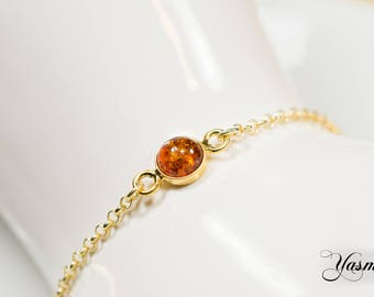 Amber Gold Sterling