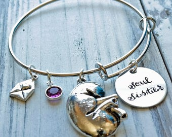 Kidney Transplant Donor Wire Adjustable Bangle Bracelet