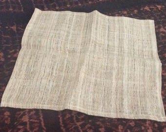 Hand woven Hemp cloth  31 x 31 cm