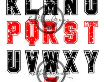 Font Svg, Sports Font Svg, Distressed Font Svg, Font Dxf, Font Eps, Distressed Alphabet Svg, Distressed Sports Font Svg