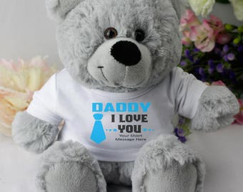 Personalised Dad/Pop/Grandad Bear - Grey