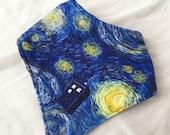 Doctor Who Van Gogh Tardis Starry Night Baby Bandana Bib