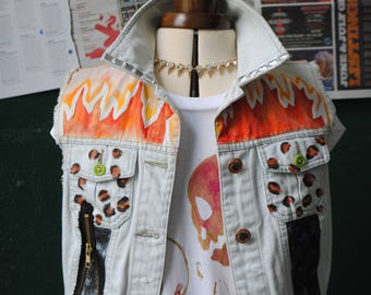 FIRE DENIM VEST