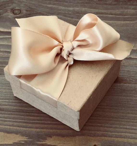 Party Favor - Party Favor Box - Kraft Box - Box with Ribbon - Wedding Favor Kit - Box Kit - Kit for Wedding - Party Kit - Ribbon - Box Favor