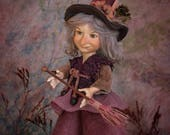 Witch doll poseable art doll witch dolls witch figurine art dolls witch decor porcelain doll fantasy dolls handmade doll LIMITED EDITION