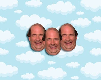 "Kevin Malone Expressions Sticker Pack 3 ct 2 x 1.5"" - The Office Tv - Office Kevin - Office Tv Show - Kevin Malone - The Office Tv Gift"