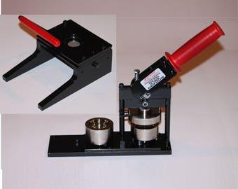"1.25"" Paper Button Maker - Button Machine by Tecre - #125 1.25"" 1 1/4"" Paper Button Press Machine Maker + #1629 Round Graphic Punch"
