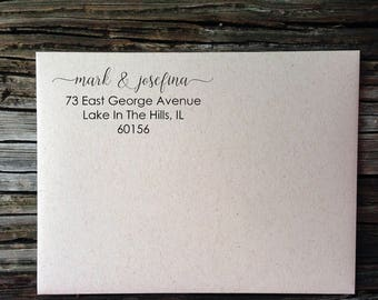 Personalized Address, Wedding Labels, Josefina Calligraphy Return Address Labels, We've Moved! Address Labels, Custom Address Labels