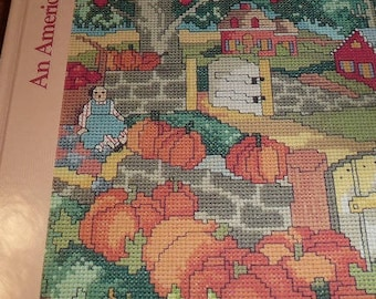 Vintage The Changing Seasons An American Sampler Cross Stitch Book