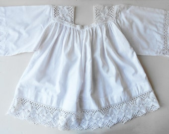 Antique French Choir-Boy Robe White Lace Chorister Garment Altar Boy