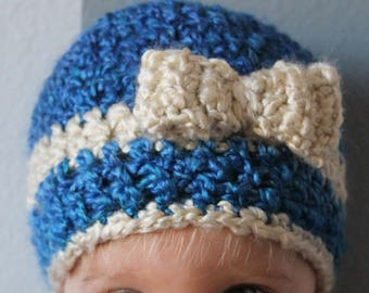 Crochet Beanie with Bow