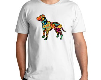Psychedelic American Pit Bull Terrier T-Shirt