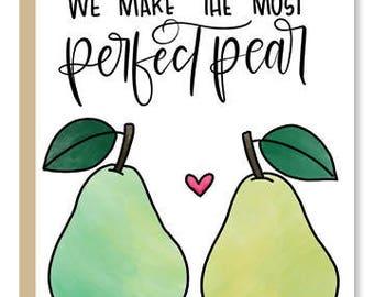 Perfect Pear Greeting Card