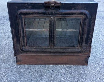Antique Florence General Oil Stove Top Oven, Campfire Oven, Cabinet