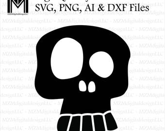 Skull - Kids svg, png, ai and dxf Files -For Commercial & Personal Use- SVG for Cricut Silhouette and Cameo - Vinyl file