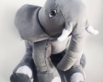 Custom Elephant Plush, Custom Plush Elephant, Elephant Stuffed Animal, Stuffed Elephant, Soft Elephant, Elephant Plushie, animal elephant
