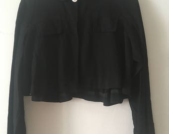 40s Black Opera Jacket Cropped