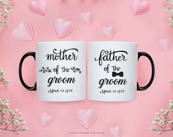 Mother of the Groom Gift Father of the Groom Gift from Bride Wedding Gift for Mom Father of the Bride Gift from Daughter Couple Mugs 220O