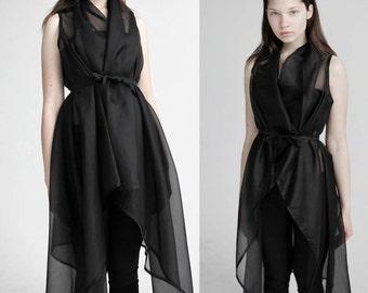 Transparent organza vest/dress