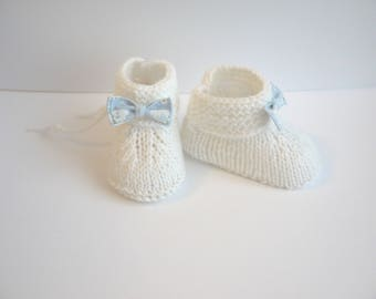 baby boy shoes 0/3 month baby booties white decor fabric