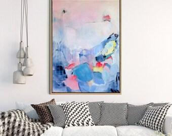 Abstract Giclee Print, Abstract Wall Art, Abstract Landscape, Fine Art Print,  Modern Art, Canvas Print, Original artwork,