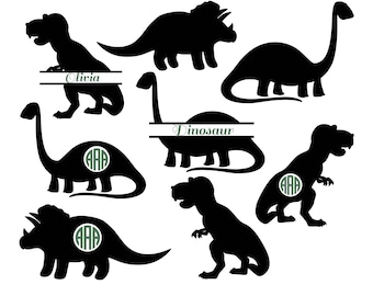 Dinosaur SVG, Animals SVG, Dinosaur Silhouette, monogram svg, Dinosaur Clipart, Silhouette Files, Animals Silhouette, png, eps, svg, dxf.