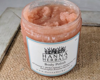 Fruity Fusion Emulsified Body Polish - emulsified sugar scrub - skin softening sugar scrub - skin smoothing scrub - Hanna Herbals