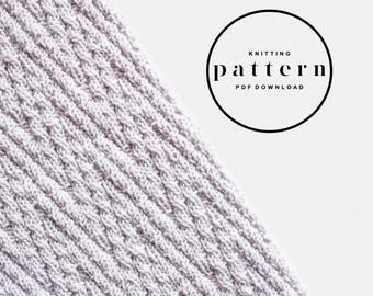 KNITTING PATTERN : Chevron Scarf / knitting pattern, knitting scarf pattern, textured scarf pattern, open ended scarf, chevron scarf pattern