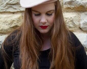 Pink vintage beret hat
