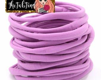 Lilac Nylon Headband | One Size Fits All Headband | THIN Soft Nylon Headband for baby and adults| Premium Infant & Baby Headbands | BULK