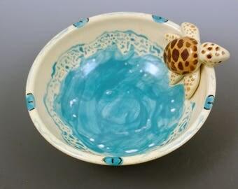 Ceramic Sea Turtle Bowl