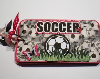 Soccer Mini Album, Chipboard Album, Scrapbook Album, Photo Album, Brag Book, Album for Soccer Player