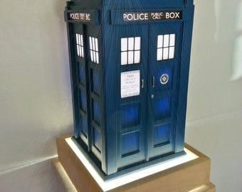 Tardis lamp etsy tardis inspired table lamp mozeypictures Gallery