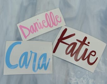 YOUR NAME Vinyl Decal - Word Decal - Name Decal - Vinyl Name Decals - Customizable Decal - Cursive Name - First Name - Name Stickers - Decal