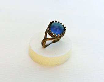Mood ring, Bronze mood ring, Adjustable ring, Color changing ring, Mood jewelry, Vintage inspired ring, Color changing mood stone