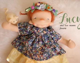 """Lucy - 17"""" OOAK - by Down Under Waldorfs. Waldorf. Cloth doll. doll. Steiner.Natural Fiber art doll. sculptured"""