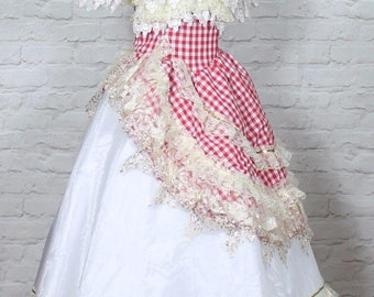 Theatre Victorian Edwardian Style Gown Dress Costume Wedding Stage UK 12-14...US 8/10