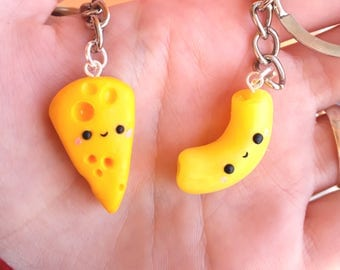 Mac and cheese Friendship necklaces Couple BFF best friends Valentine's day