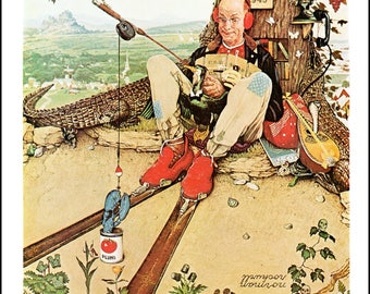 "Norman Rockwell painted April Fool and Taxes Post Covers in 1945. The page is approx. 11.5"" wide and 15"" tall."